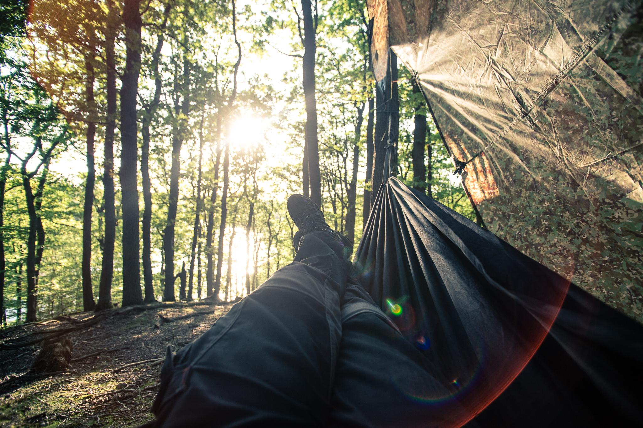 In der Hängematte liegen und einfach mal entspannen.
